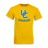 Gold T Shirt-Interlocking UC Riverside