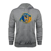 Grey Fleece Hoodie-Highlander Bear