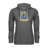 Adidas Climawarm Charcoal Team Issue Hoodie-Interlocking UC Riverside w/Bear Head