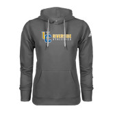 Adidas Climawarm Charcoal Team Issue Hoodie-Interlocking UC Riverside Side Version