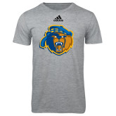 Adidas Sport Grey Logo T Shirt-Highlander Bear