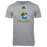 Adidas Sport Grey Logo T Shirt-Interlocking UC Riverside w/Bear Head