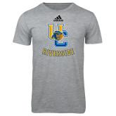 Adidas Sport Grey Logo T Shirt-Interlocking UC Riverside w/Bear Head