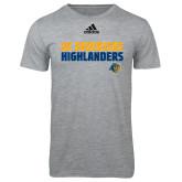 Adidas Sport Grey Logo T Shirt-Adidas Riverside Highlanders Logo