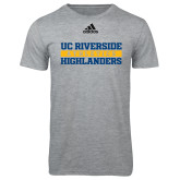 Adidas Sport Grey Logo T Shirt-Adidas Riverside Athletics Logo