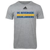 Adidas Sport Grey Logo T Shirt-Adidas Riverside Athletics Logo