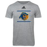 Adidas Sport Grey Logo T Shirt-Adidas Riverside Bear Logo