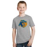Youth Grey T-Shirt-Highlander Bear