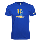 Next Level SoftStyle Royal T Shirt-Interlocking UC Riverside