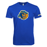 Next Level SoftStyle Royal T Shirt-Highlander Bear