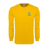 Gold Long Sleeve T Shirt-Interlocking UC Riverside