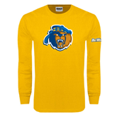Gold Long Sleeve T Shirt-Highlander Bear