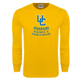 Gold Long Sleeve T Shirt-UC Strength & Conditioning