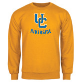 Gold Fleece Crew-Interlocking UC Riverside