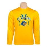 Syntrel Performance Gold Longsleeve Shirt-Graphics inside Basketball