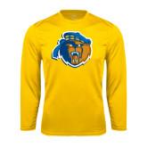 Performance Gold Longsleeve Shirt-Highlander Bear