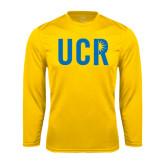 Performance Gold Longsleeve Shirt-UCR