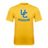 Performance Gold Tee-Interlocking UC Riverside