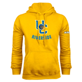 Gold Fleece Hoodie-Interlocking UC Riverside w/Bear Head