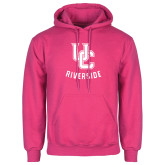 Fuchsia Fleece Hoodie-Interlocking UC Riverside