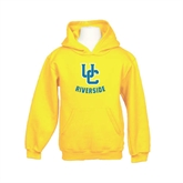 Youth Gold Fleece Hoodie-Interlocking UC Riverside