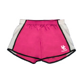 Ladies Fuchsia/White Team Short-Interlocking UC Riverside