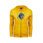 ENZA Ladies Gold Fleece Full Zip Hoodie-Highlander Bear