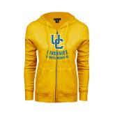 ENZA Ladies Gold Fleece Full Zip Hoodie-Sports Medicine