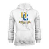 White Fleece Hoodie-Interlocking UC Riverside
