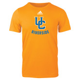 Adidas Gold Logo T Shirt-Interlocking UC Riverside