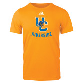Adidas Gold Logo T Shirt-Interlocking UC Riverside w/Bear Head