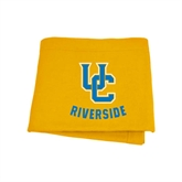 Gold Sweatshirt Blanket-Interlocking UC Riverside
