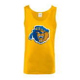 Gold Tank Top-Highlander Bear