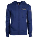ENZA Ladies Royal Fleece Full Zip Hoodie-Interlocking UC Riverside