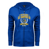 ENZA Ladies Royal Fleece Full Zip Hoodie-2016 Big West Conference Champions Womens Golf