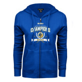 ENZA Ladies Royal Fleece Full Zip Hoodie-2016 Big West Conference Champions Mens Golf