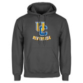 Charcoal Fleece Hoodie-Interlocking UC Riverside
