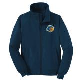 Navy Charger Jacket-Highlander Bear