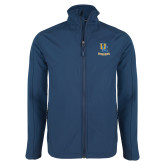 Navy Softshell Jacket-Interlocking UC Riverside