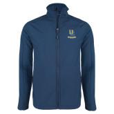 Navy Softshell Jacket-Interlocking UC Riverside