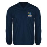 V Neck Navy Raglan Windshirt-UC Riverside Athletic Association