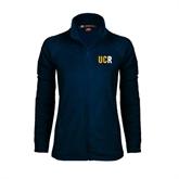 Ladies Fleece Full Zip Navy Jacket-UCR