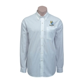 Red House White Long Sleeve Shirt-Interlocking UC Riverside