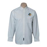 Mens White Oxford Long Sleeve Shirt-Highlander Bear