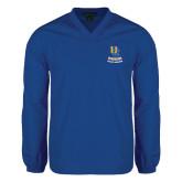 V Neck Royal Raglan Windshirt-UC Riverside Athletic Association
