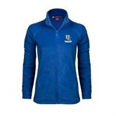 Ladies Fleece Full Zip Royal Jacket-Interlocking UC Riverside
