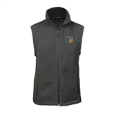 Fleece Full Zip Charcoal Vest-Highlander Bear