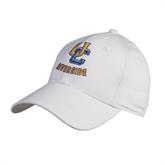 White Heavyweight Twill Pro Style Hat-Interlocking UC Riverside