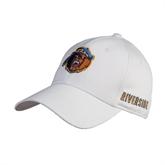 White Heavyweight Twill Pro Style Hat-Highlander Bear