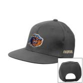 Charcoal Flat Bill Snapback Hat-Highlander Bear